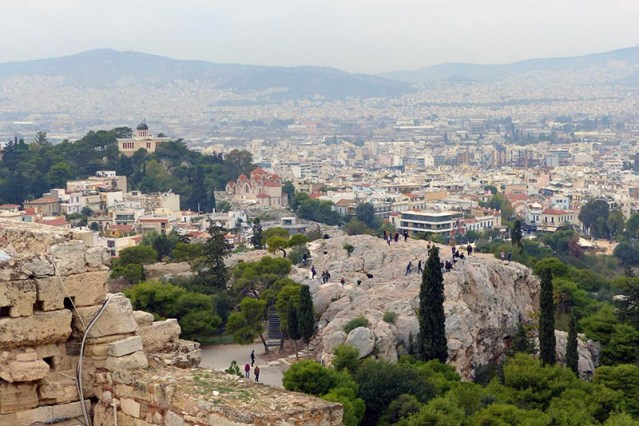 The Areopagos from the Acropolis - Jen Funk Weber