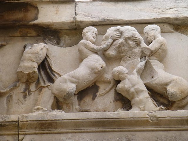 Sculptures on the Temple of Hephaestus - Jen Funk Weber