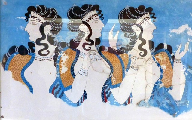 Ladies in Blue fresco, Knossos, Crete, Greece - Jen Funk Weber