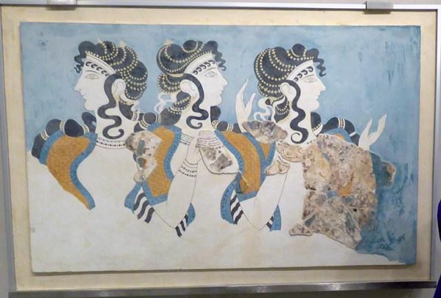 Ladies in Blue original pieces, Heraklion Museum, Crete, Greece - Jen Funk Weber