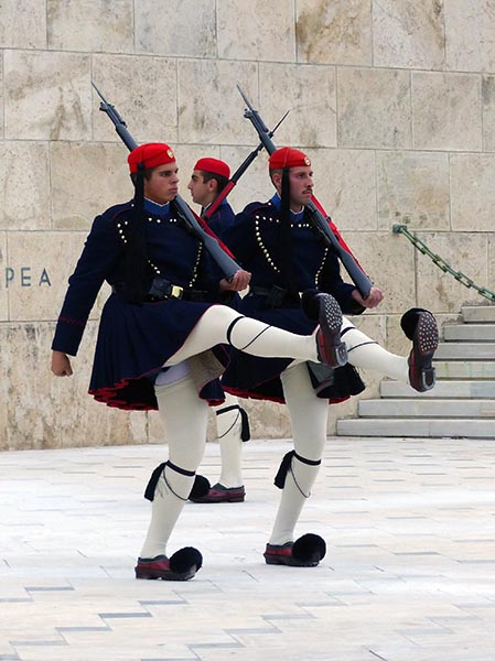 Greek Evzones at the chaging of the guard