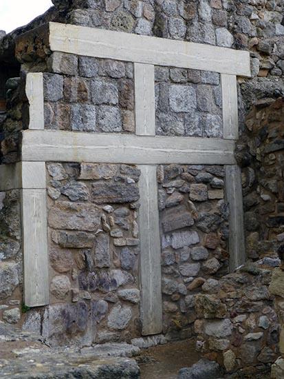 Wall restoration, Knossos, Crete, Greece - Jen Funk Weber