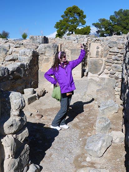 Greek statue at Phaestos, Crete, Greece - Jen Funk Weber