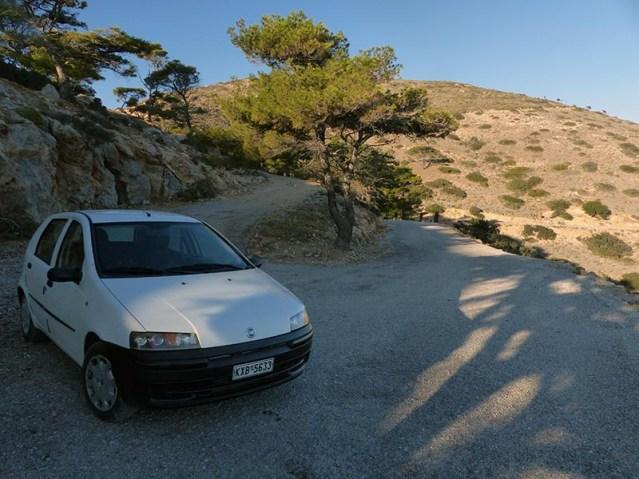 Tight turn, narrow road - driving in Greece - Jen Funk Weber