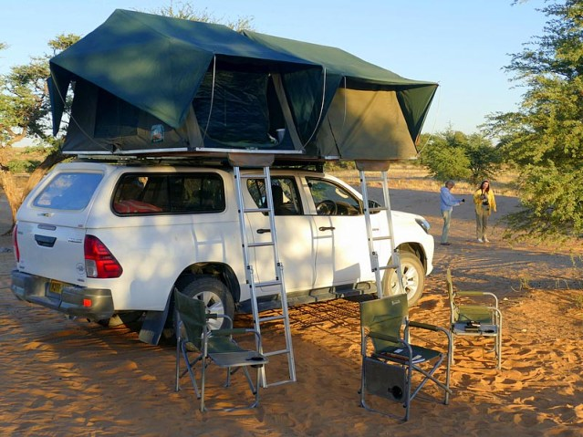 Where the lions passed the truck - Kgalagadi Transfrontier Park, photo by Mike Weber,