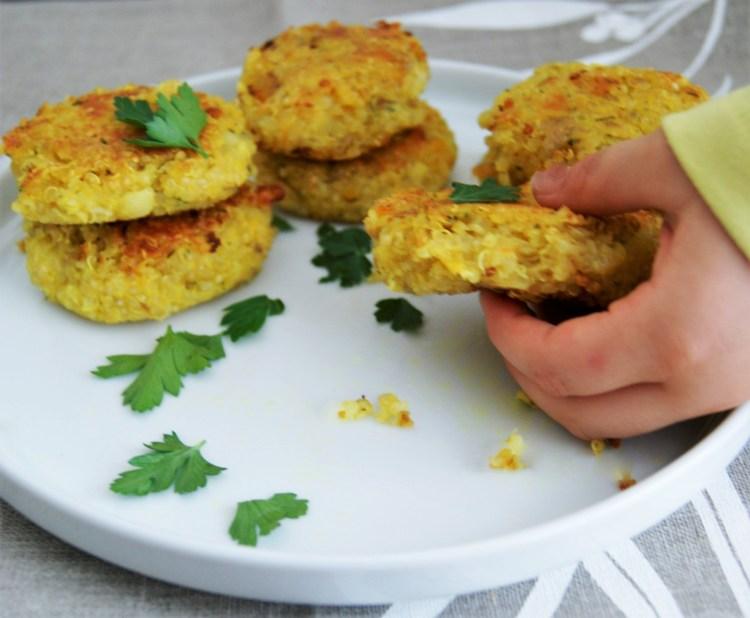 Croquetas de quinoa con coliflor y papa
