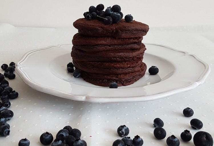 Hotcakes de chocolate