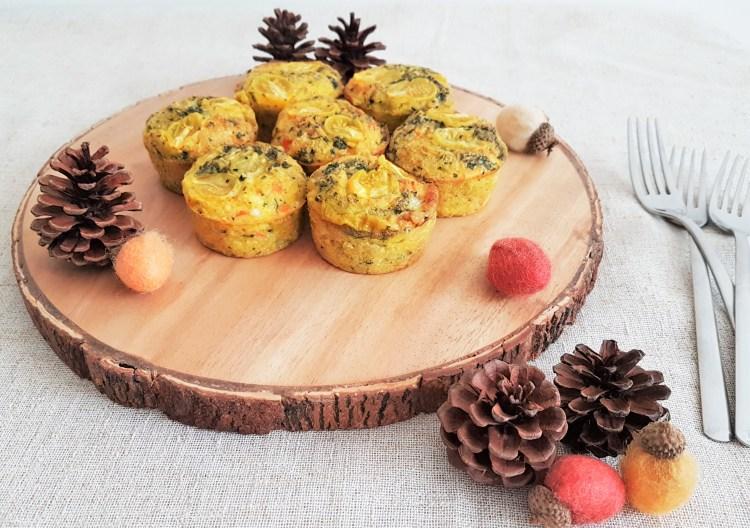 Muffins de huevo, quinoa y verduras/ Egg, quinoa and veggie muffins