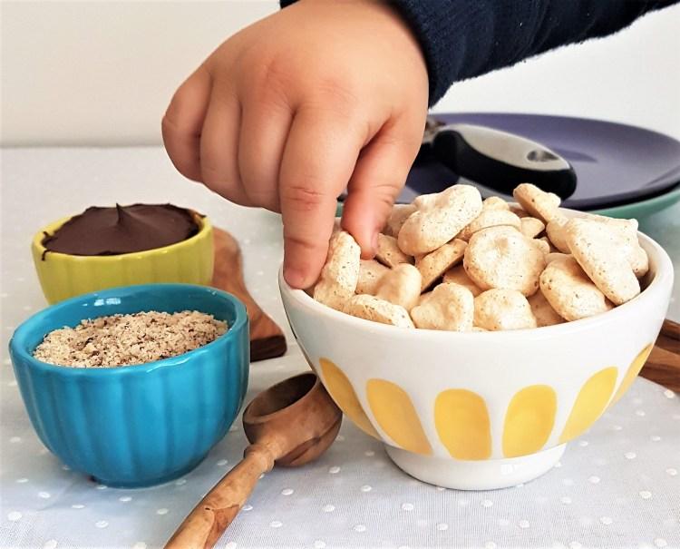 Mini merengues de avellanas