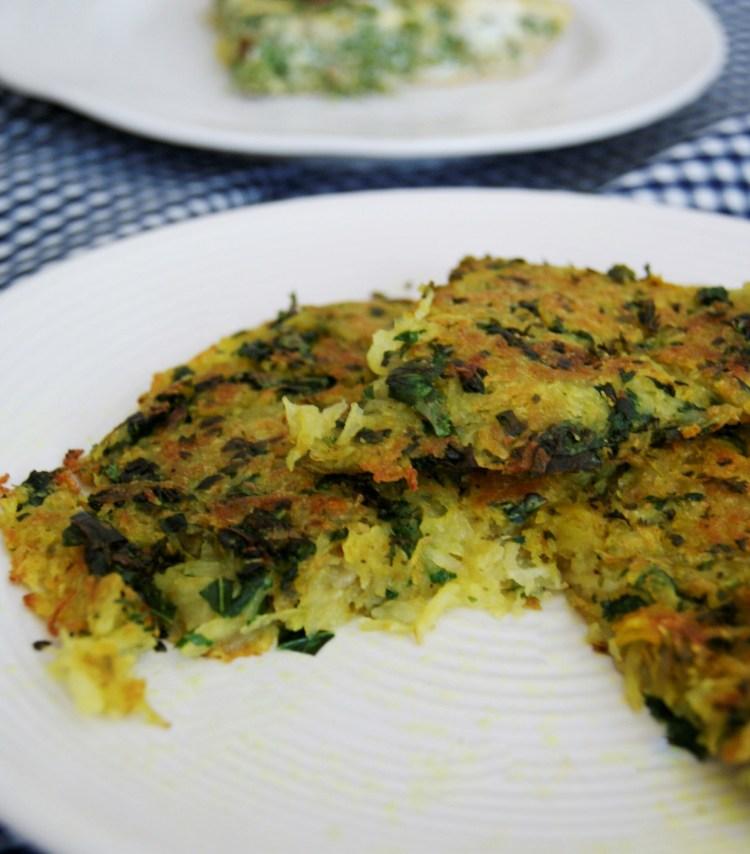 Hash brown con kale