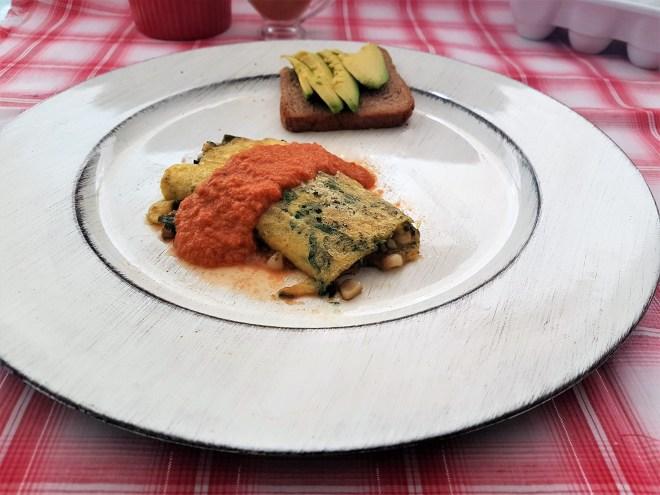 Omelette de verduras y salsa de chipotle (4)