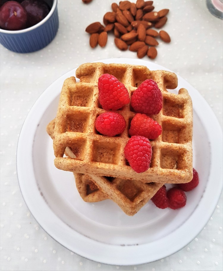 Waffles de almendra, maíz y limón (7)