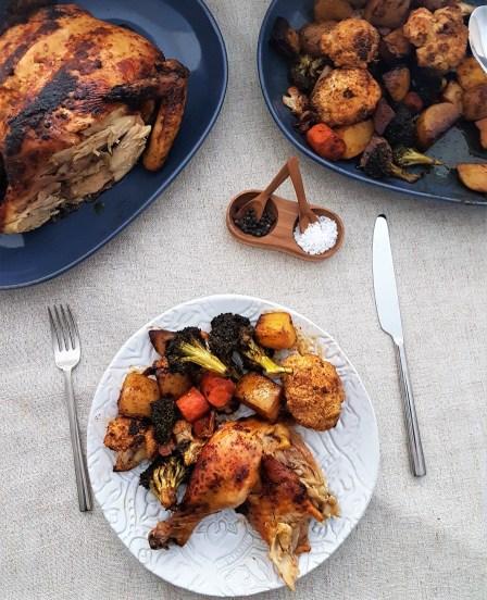 Pollo rostizado con paprika ahumada