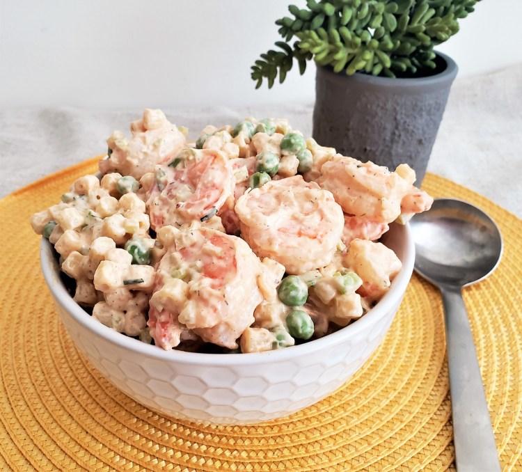 Ensalada de pasta con camarón