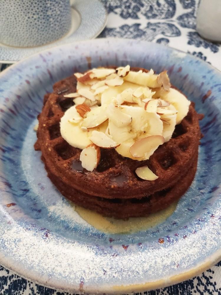 Waffles de chocolate más sanos