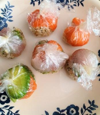 Bolitas de sushi