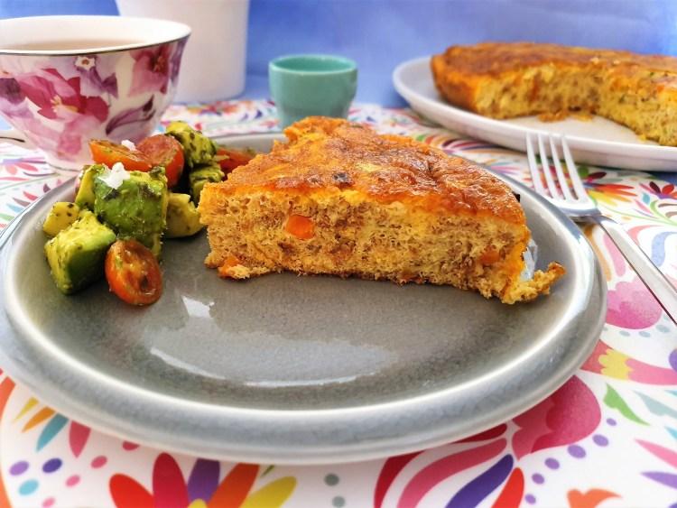 Fritata de chorizo y verduras