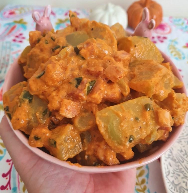 Chayotes en salsa de chipotle
