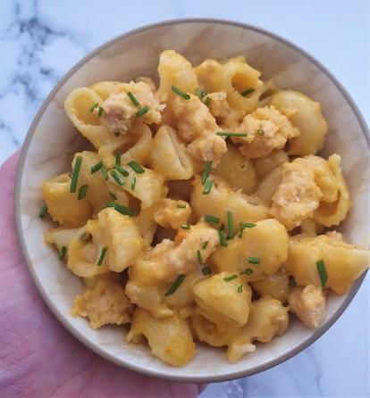 Mac and cheese con pollo