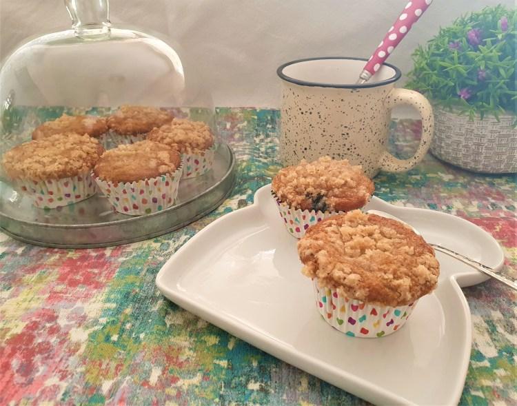 Muffins de plátano y moras