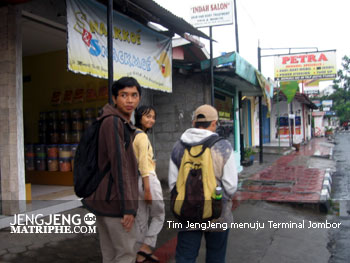 Tim JengJeng menuju Terminal Jombor