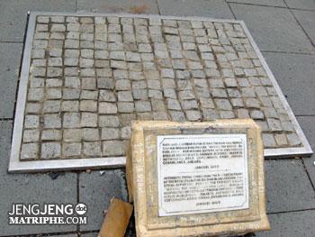Batu dari 8 kota di depan Museum Sejarah Jakarta