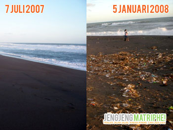 Perbandingan keadaan di Pantai Pandansari