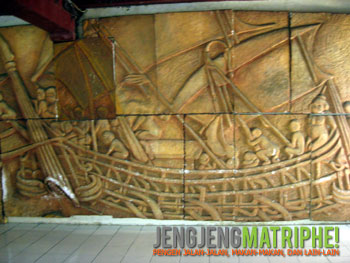 Replika relief Candi Borobudur