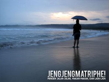 Senja di Pantai Ciantir yang mendung