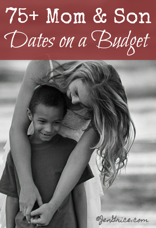 Do you date your son? Check out this huge list of 80 mom & son date ideas for those on a budget. I'm sure you'll find something to keep you busy. via @msjengrice