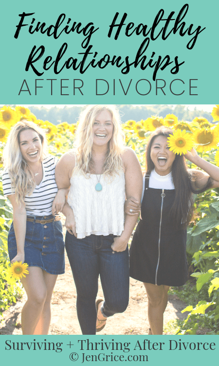 Friendships after divorce are hard. Not all of your friends want to stay friends. And the ones who do might be toxic or dysfunctional. Here are my tips for finding healthy relationships after divorce.
