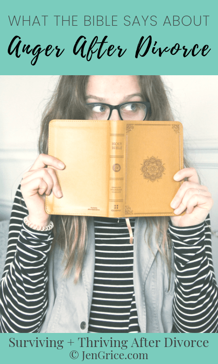 Do you struggle with what to do with the angry feelings you have after divorce? The Bible tells us how to handle and what to do with it. It's not time to heal after divorce. via @msjengrice
