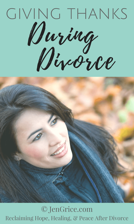 During divorce, it's hard to find things to be thankful for when you're being attacked in court and shunned by the community. But we must focus our mind on the good things in our lives. via @msjengrice