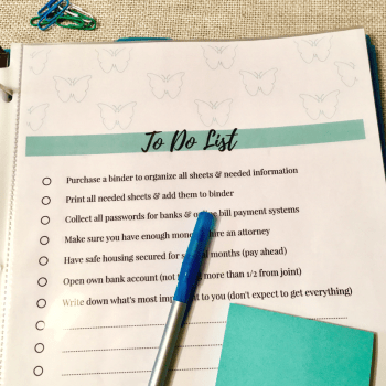 To Do List | Divorce Survival Tool Kit by Jen Grice
