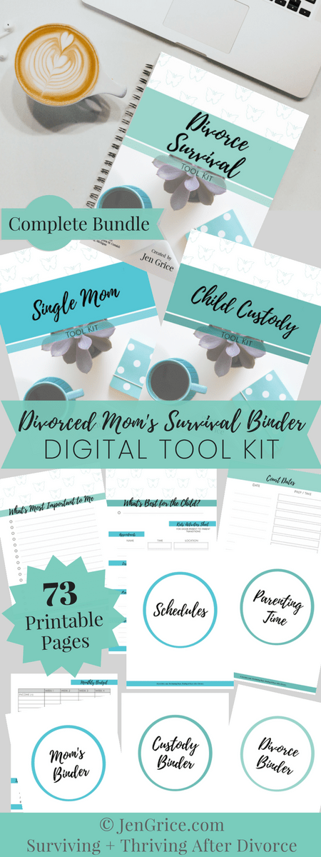 Create a divorced mom binder all the way through divorce, child custody, and after as a single mom. All the printables you need to survive divorce. via @msjengrice