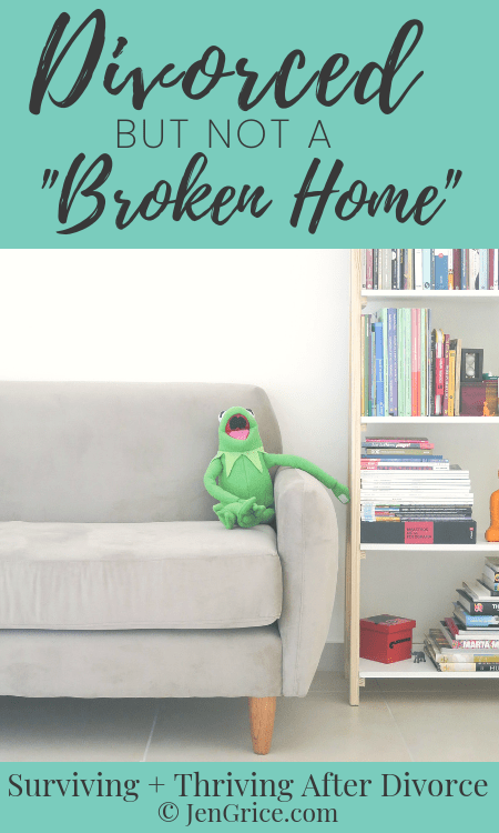 Instead of a broken home I want my home to be a home that is becoming more loving and peaceful – a home where everyone is allowed to thrive. That's why I've changed my thought process and the dialog around divorce. via @msjengrice
