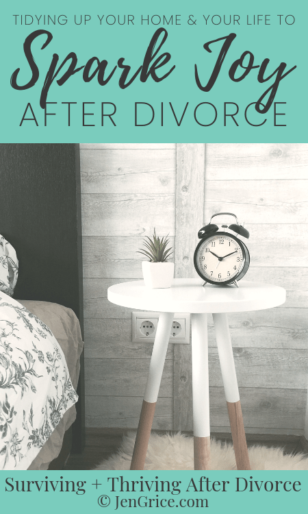 Tidying up your life, home, and mind after divorce will help you to spark joy and find peace. This is a practice of ridding yourself of the negative to make room for the positive while not just using items but appreciating them. via @msjengrice