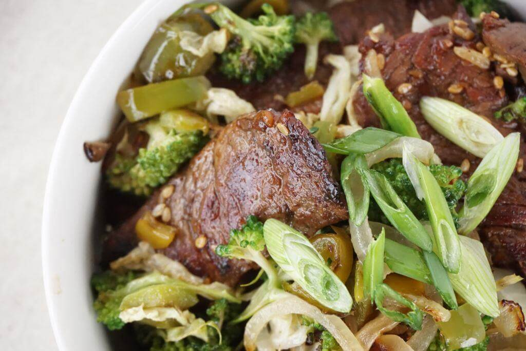 Teriyaki Beef and Vegetable Rice Bowls