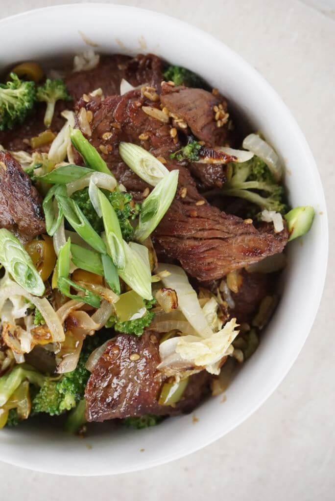 Teriyaki Beef and Vegetable Rice Bowl