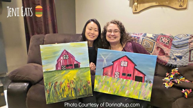 Donna and Jeni Painting Party