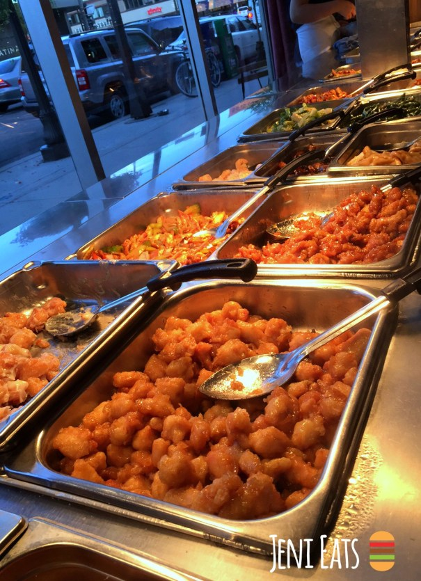 buffet close up