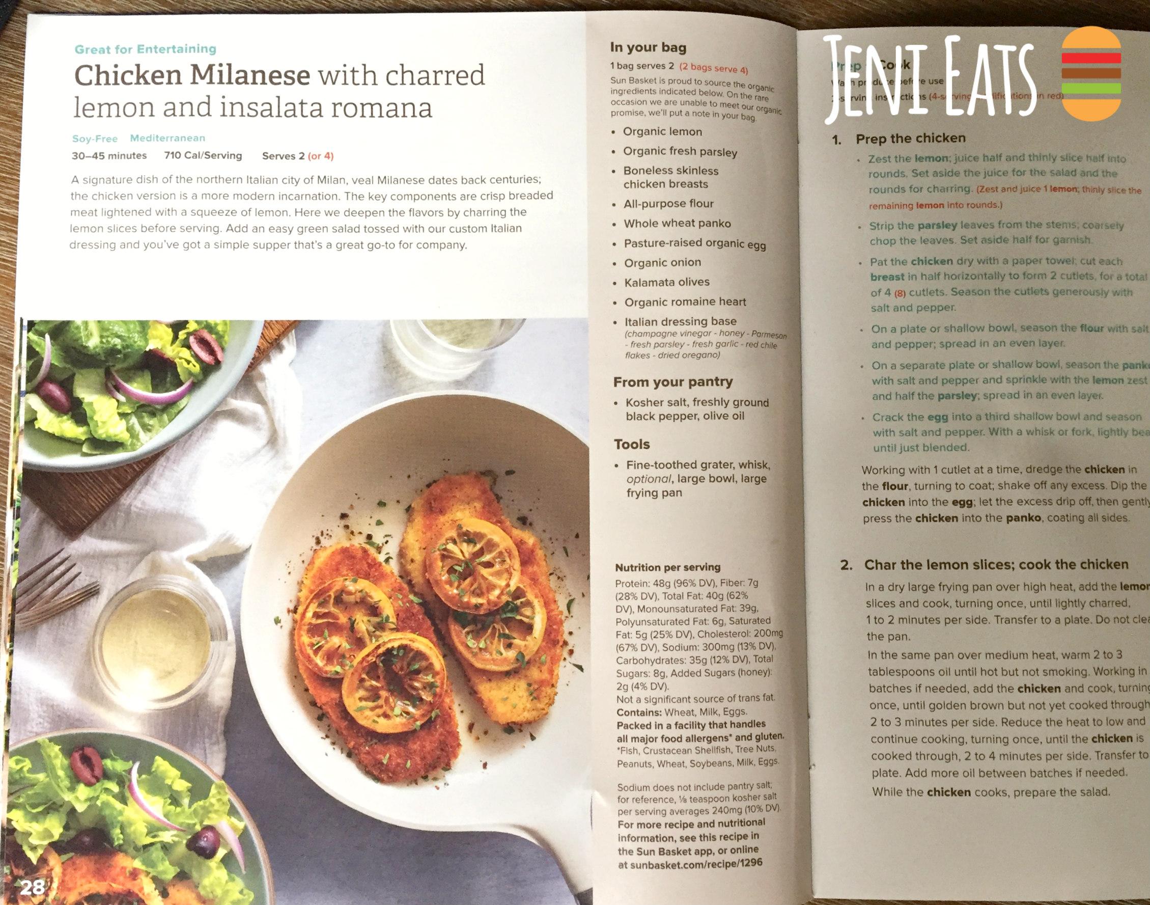 Sun Basket Meal Kit Subscription Box Review: Week One - Jeni Eats