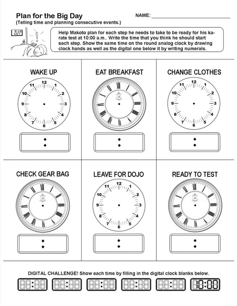 hight resolution of Planning and Telling Time Lesson and Worksheet - Jenifer Tull-Gauger