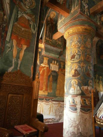 Snagoiv Church, interior frescoes