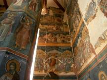 Snagov Church, interior frescoes