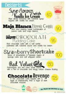Cozy Cup menu page 3