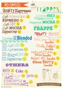 Cozy Cup menu page 4