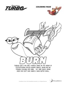 Turbo on DVD/Blu-ray in Stores Now + Activity Sheets #