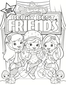 Strawberry Shortcake: Berry Best Friends Coloring Page #
