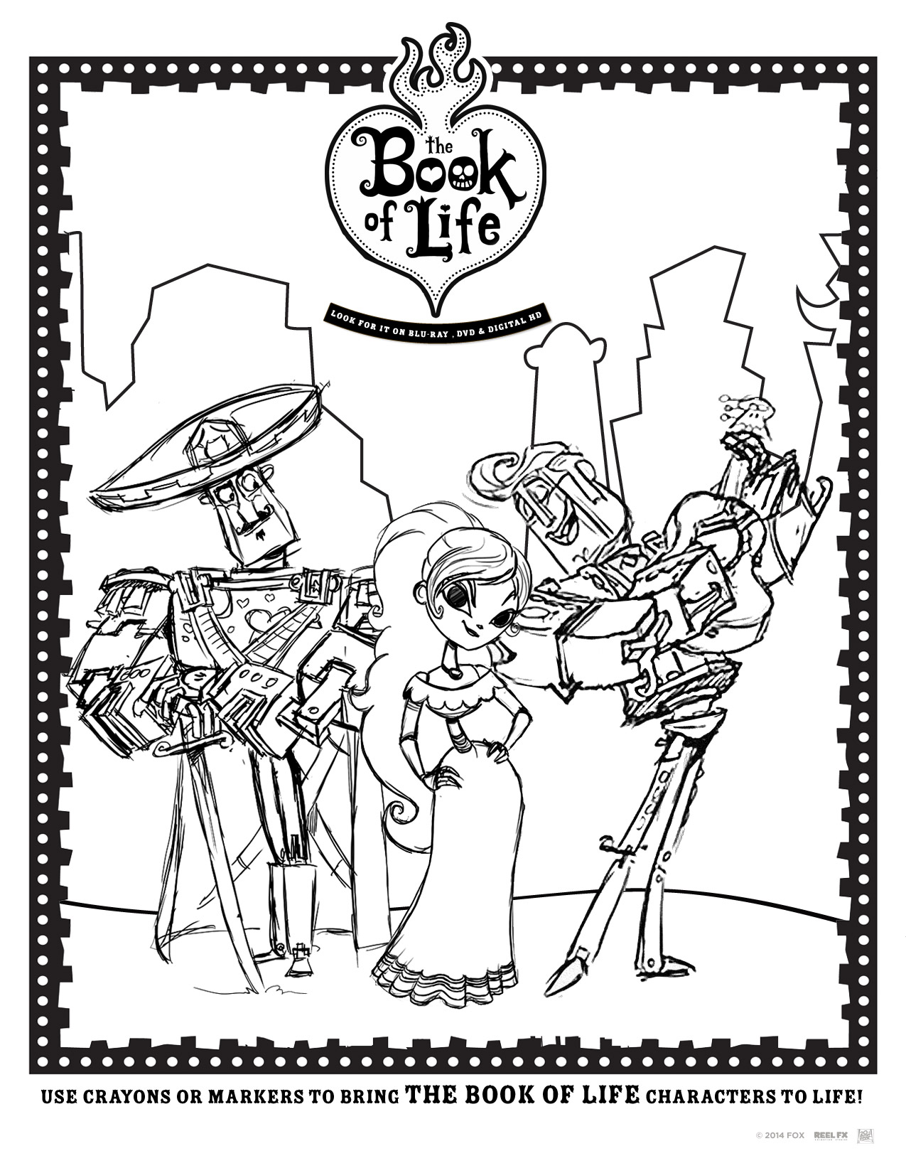 The Book of Life: In Stores January 27, Activity Sheets
